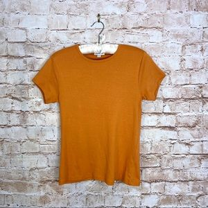 Frank & Oak The Good Cotton Baby Rib Tee Size L